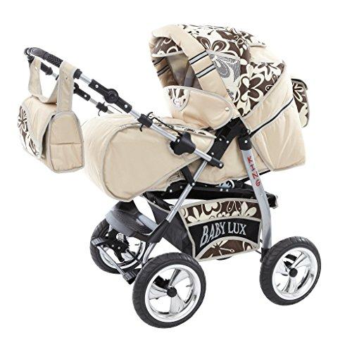 Cochecito de bebé 3 en 1 con ruedas fijas
