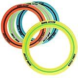com-four® 4X Anillo Frisbie para niños y Adultos - Disco de Lanzamiento también para Perros - Disco Volador en Colores Brillantes [la selección varía] (04 Piezas - Anillo de Lanzamiento - 28.5cm)