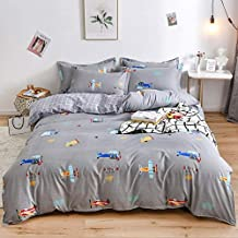 Stephanie Bedding Sets - Home Textile Grey Bedding Star Duvet Cover Set Printed Bed Sheet +Duvet Cover +Pillowcase Italy Bed Cover Grey Dots bedlinen Set - by 1 PCs