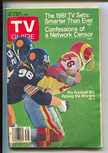 TV Guide Max 71% OFF 8 30 1980-Pro cover by Tucson Mall McLean-Cincinnat Football Wilson