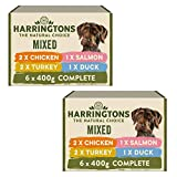 KRISP 2 x box (6 x 400g) selection Harringtons Chicken Meat Salmon Fish Turkey Duck Dog Pet Food