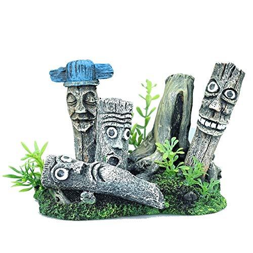 Dhagax Kreative Aquariumdeko Landschaftsgestaltung Moe Hochformat Landschaftsgestaltung Osterinsel Steine Statue Harz Reptilienbox Reptilienbox
