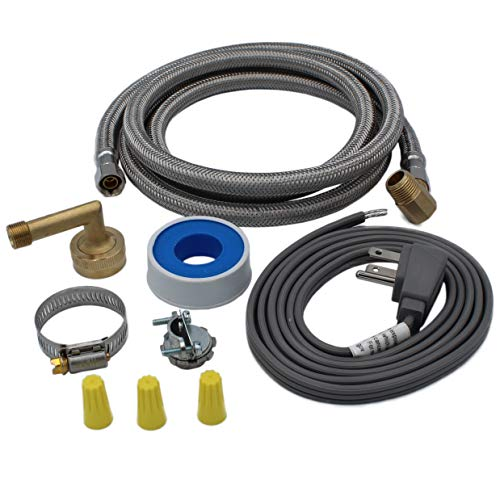 Mejor EZ-Flo 48336 Eastman Stainless Steel, 6 Ft Length, Universal Fit dishwasher installation kit crítica 2020