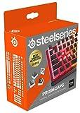 SteelSeries PrismCaps – teclas de doble inyección estilo pudding – termoplástico PBT resistente – compatible con la mayoría de teclados mecánicos – vástagos MX – negro (Configuración nórdica)