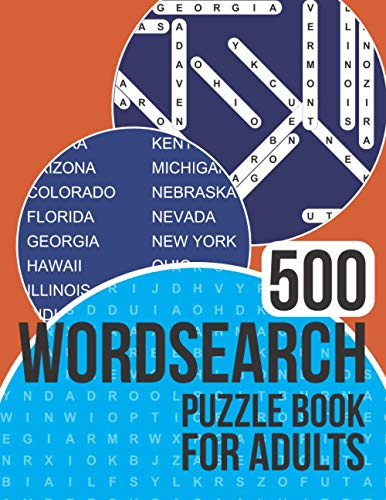 500 Wordsearch Puzzle Book for Adults: Word search book with a massive 500 themed puzzles to enjoy