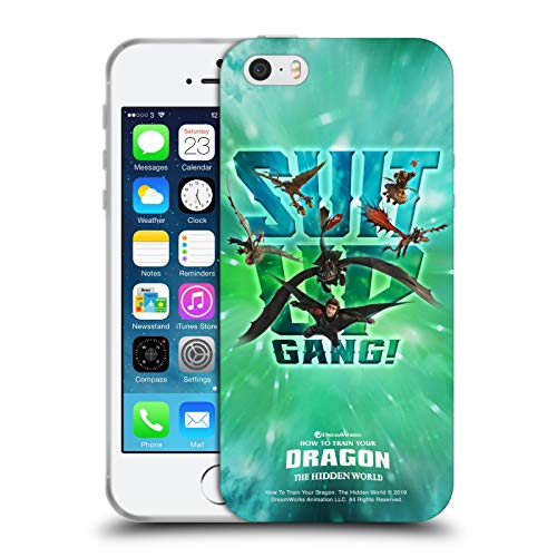 Head Case Designs Licenza Ufficiale How To Train Your Dragon Suit Up Gang! III Dragonships Cover in Morbido Gel Compatibile con Apple iPhone 5 / iPhone 5s / iPhone SE 2016