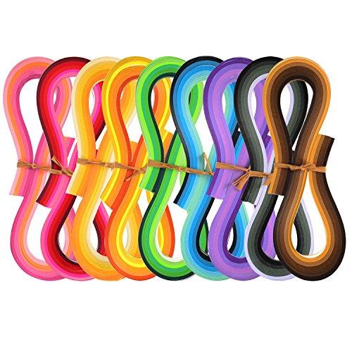Kit de Papel para Hacer Filigranas 1080 Piezas de Tiras de Papel de Quilling, 44 Colores,...