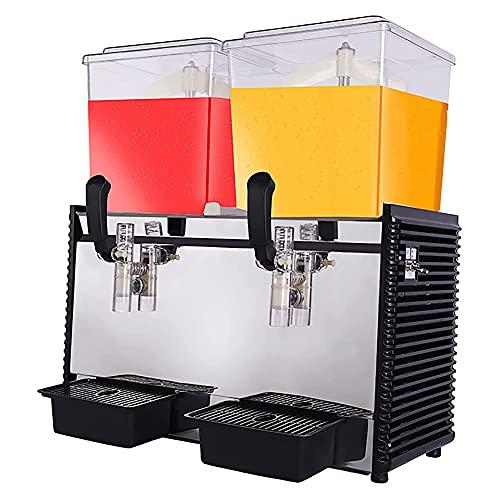 MNSSRN Dispensador de Bebidas de Doble Cilindro, exprimidor de autoservicio, exprimidor de Doble Cilindro de Doble Temperatura frío y Caliente, Puede producir partículas de Frutas