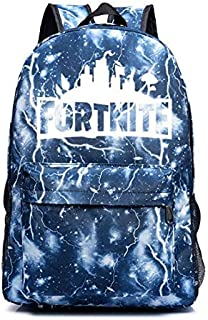 Fortnite battle royale backpack students School bag lightning black