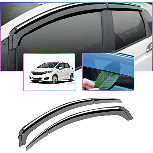 Auto Windabweiser Für H onda FIT/Jazz GK Hatchback MK3 2014-2019 Seitenfenster Blockiere die Sonne und den Regen Durchscheinender Fensterabweiser 4 Stück Set