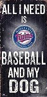Fan Creations MLB ミネソタ・ツインズ ユニセックス ミネソタ・ツインズ 野球 マイ・ドッグサイン チームカラー 6 x 12インチ