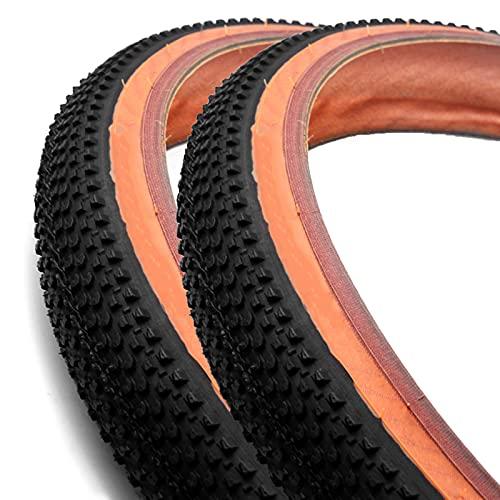 FYYTRL Neumático de Bicicleta de montaña General, neumático de Repuesto, Negro, Apto para Bicicletas de montaña y de Carretera (2 neumáticos),27.5 * 2.1