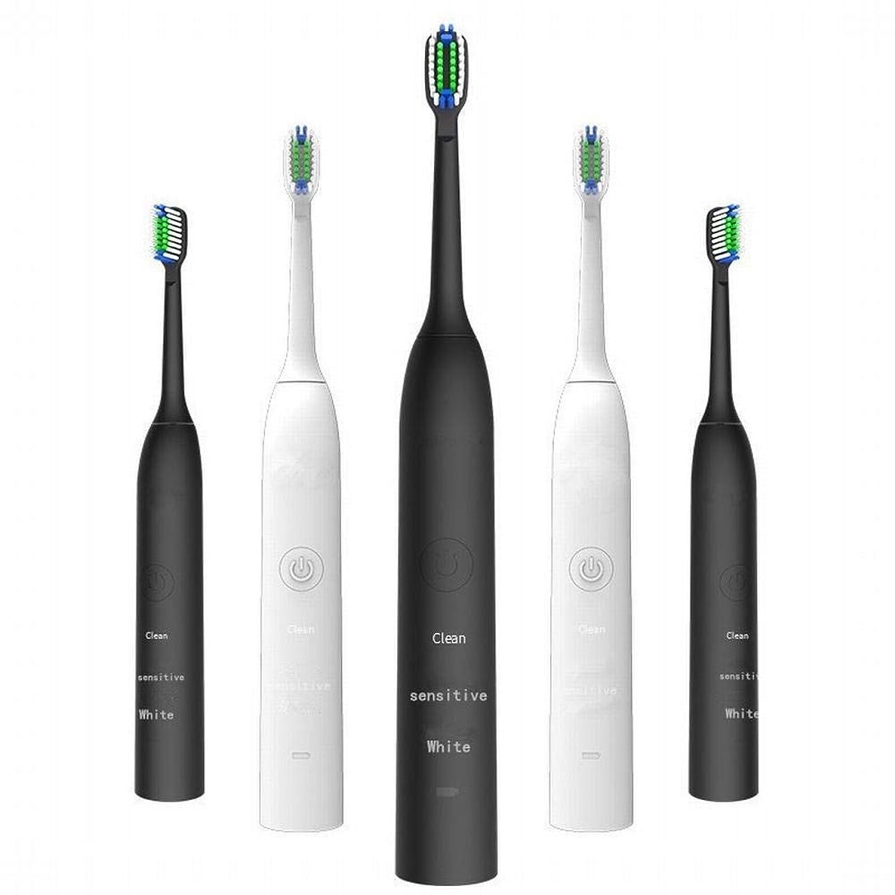 批判するアレルギー匹敵しますLKJASDHL 充電式電動歯ブラシ2つのブラシヘッドで3速度調整誘導充電音波振動歯ブラシキッズ電動歯ブラシ (色 : White)