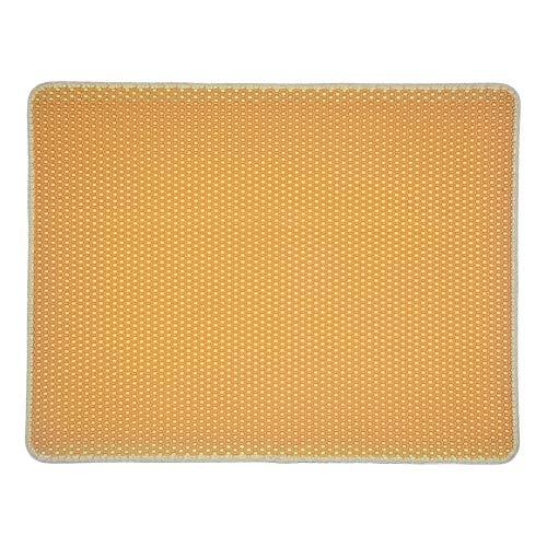 Hardesty 1 alfombrilla antideslizante para arena de gato, de PVC, con forma de garra para gatos, color azul, rosa, gris, marrón, negro, 58 cm x 75 cm, amarillo