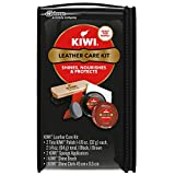Kiwi 70421 Leather Care Kit with each: Black and Brown Shoe Polish, Shine Brush, Shine Cloth, 2 Sponge Applicators, Sold as 1 Set