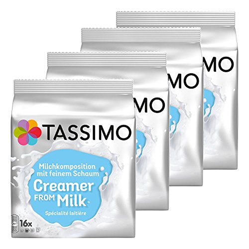 Tassimo Milchkomposition, Kaffee, Milchkapsel, Milchschaum, 4 x 16 T-Discs