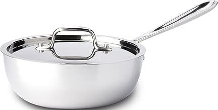All-Clad 8701004396 Saucier Pan, 2-Quart, Stainless Steel