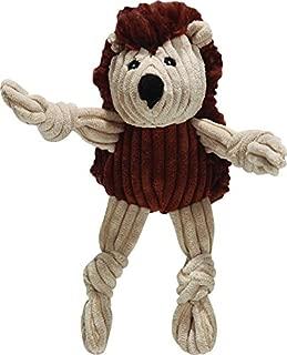 HuggleHounds Plush Corduroy Durable Hedgehog Woodland Knottie Dog Toy