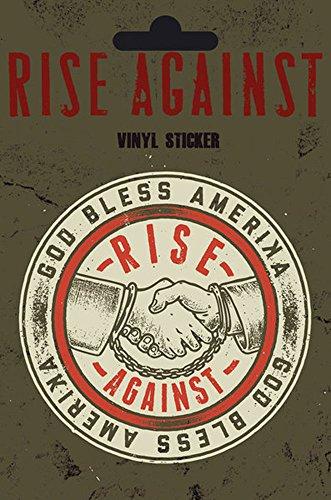 empireposter Rise Against - Shaking Hands - Sticker Aufkleber - Größe Ø9 cm