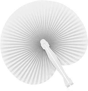 PAI PAI Blanco (Lote DE 60 UND) Detalles de Boda o Regalo-Económicos y funcionales- Abanicos de Boda Baratos-Abanicos para pintar- Abanico manualidades- Abanicos blancos baratos-PAY PAY para bodas
