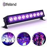 Elfeland Schwarzlicht UV LED Bar Schwarzlichtlampe UV LED-Beleuchtung 27W Bühnenlicht