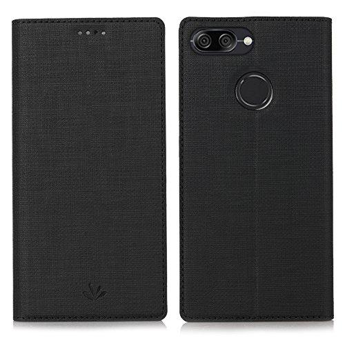 Eastcoo Xiaomi Mi A1 Hülle, PU Leder Folio Flip Handyhülle Brieftasche Mit Standfunktion Magnetverschluss Wallet Book Klapphülle Schutzhülle Tasche Hülle Cover für Xiaomi Mi A1(Mi A1,Black)