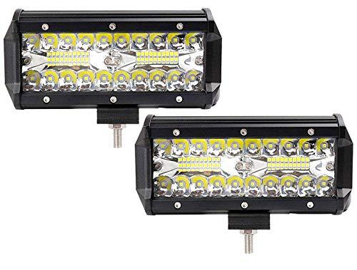 2X 120W Led Arbeitsscheinwerfer Off-Road Scheinwerfer Bar Fernlicht 12V 24V Lampen IP67 Wasserdicht Zusatzscheinwerfer Flutlicht für Auto Traktor