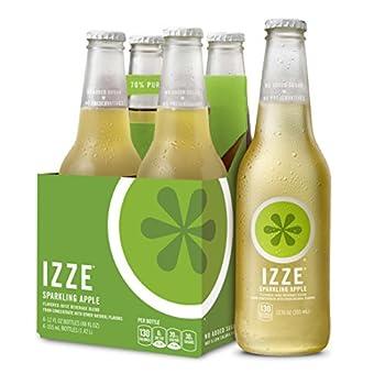IZZE Sparkling Juice Apple 12 Fl Oz  Pack of 4