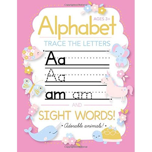 3 Letter Words For Pre K.Amazon Com Trace Letters Of The Alphabet And Sight Words
