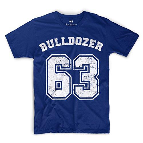 Bud Spencer - Bulldozer 63 - T-Shirt (XXL) , Farbe - Royal Blau