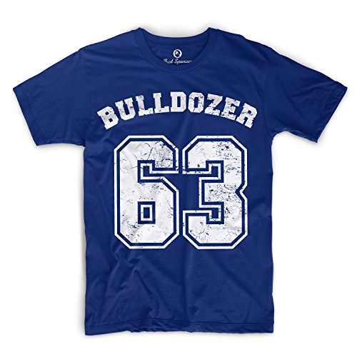 Bud Spencer - Bulldozer 63 - T-Shirt (XXL) , Farbe - Royal Blau