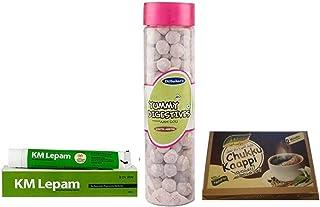 Kerala Ayurveda KM Lepam 20g, With Free Dilbahars Yummy Digestives Aam Goli 90gm & Assal Dry Sukku Kaapi Powder - 100g