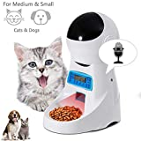 Automatic Dog Feeder Pet Food Dispenser Feeder Medium Large Cat Dog—4 Meal, Voice