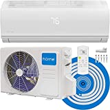 hOmeLabs Mini Split AC Heating System - 9,000 BTU 16.5 SEER and 9.8 HPSF Efficiency 115V - Low Noise Inverter Air Conditioner with Washable Filter