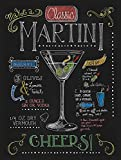 Forry Cocktail Notalgic Martini Metall Poster Retro