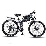 MIAOYO Bici De Nieve Eléctrica Plegable, Motor 350W, Batería Extraíble 36V 10AH, Bicicleta Gorda De Bicicleta De Montaña De 26 Pulgadas, para Hombres Mujeres,Gris