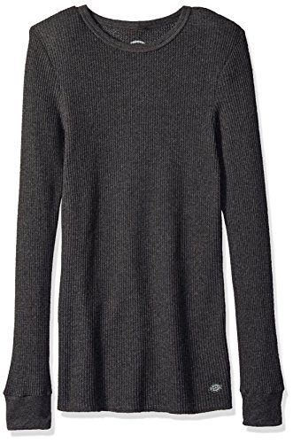 Dickies Men's Thermal Top, Charcoal Heather, Large