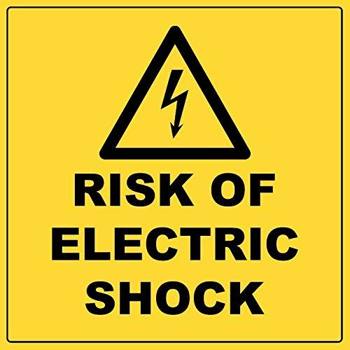 Lotusworld Señal de Advertencia de Riesgo de Choque eléctrico, de Aluminio Meta Hazard, señal de Advertencia de Metal de 30,48 x 30,48 cm