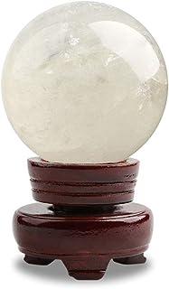 クリスタルボール/装飾ボール ナチュラルホワイトクリスタルボールガラス玉オフィスラッキーボール風水スペシャルラッキーギフトデコレーションポリッシュ 占いボール