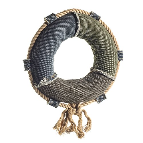 HUNTER CANVAS MARITIME LIFE RING Hundespielzeug, mit Baumwolle, Rettungsring, Vintage-Look, 22 cm