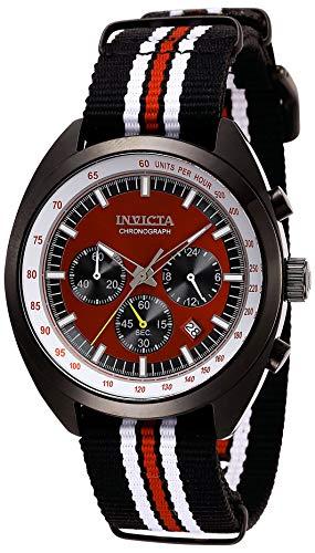 Invicta Men's S1 Rally 44mm Multicolor Nylon Band Steel Case Quartz Red Dial Analog Watch 29992