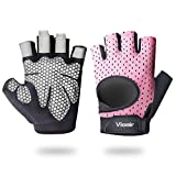 Viomir Ultralight Workout Gloves for Women Men, Padded Weight Lifting Gloves with Wrist Support,...