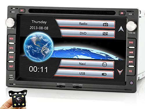 iFreGo 7 Zoll 2 Din Autoradio mit Navigation, Rückfahrkamera+ Autoradio Für VW Golf 4 Polo Passat Skoda,Polo 9N,VW Transporter V, HD Autoradio DVD GPS,Autoradio Bluetooth,Autoradio dab+,Windows CE