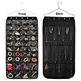 LoveBuy Hanging Jewelry Travel Organizer 40/56 Storage Pockets Closet Storage for Earrings Necklace Bracelet Ring Display Pouch (40 Pockets)