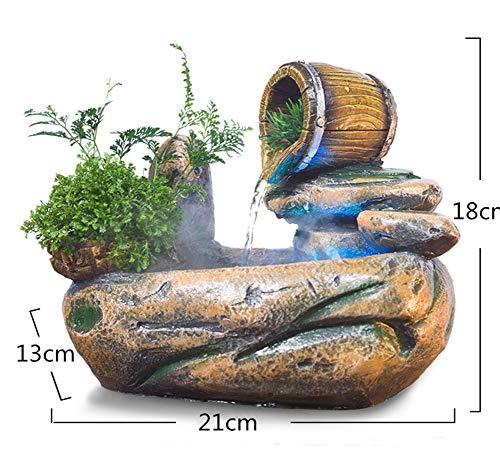MINMINA Indoor Fontein Decoratie, Draagbare Indoor Pomp Water Fontein Draagbare Waterval Decoratie