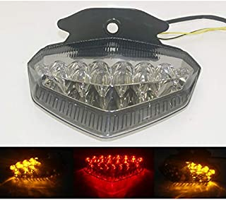 waase E-Marked DOT-Marked Motorcycle Rear Tail Light Brake Turn Signals Integrated Led Light For Ducati Hypermotard 796 1100S 1100 S EVO SP 2009 2010 2011 2012 (Smoke)