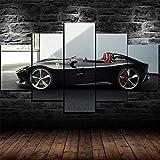 WWNMJ Cuadro en Lienzo 5 Piezas, 5 Piezas Lienzo Grandes Ferrari SP2 Super Car lienzos Cuadros Decoracion murales Pared XXL Moderno Hogar Pasillo Decor Arte Pared 150X80 Cm