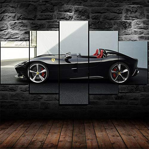 VKEXVDR Lienzo Decorativo para Pared Ferra Monza SP2 Super Coche DiseñO de GicléE,Estilo Moderno,Ideal para Salones-200x100cm Sin Marco