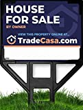 """TRADECASA House for Sale by Owner Sign & Frame - Extra Large 39"""" x 25.5"""" Double Sided Sign - Includes Online Photo Sales Showcase!"""