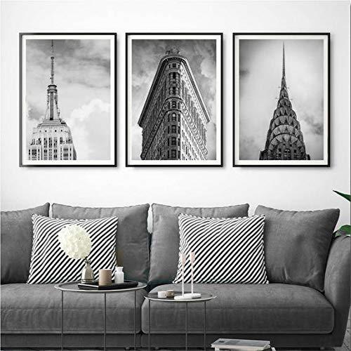 Amazon Com Set Of 3 New York Print Set New York Wall Decor Black And White New York City Wall Art Empire State Print Flatiron Building Print Art Handmade